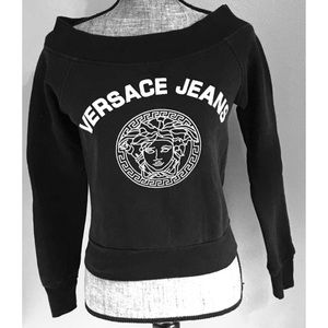 Vintage Versace Jeans Cropped Sweatshirt Small